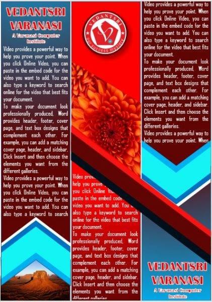 Ms Word Info Card Design Project By VedantSri varanasi